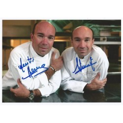 Autographe Jacques & Laurent POURCEL