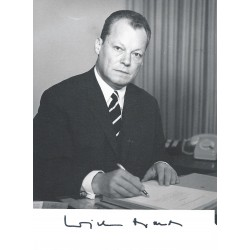 Autographe Willy BRANDT