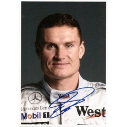 Autographe David COULTHARD