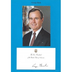 Autographe George BUSH