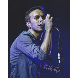 Autographe Chris MARTIN - COLDPLAY