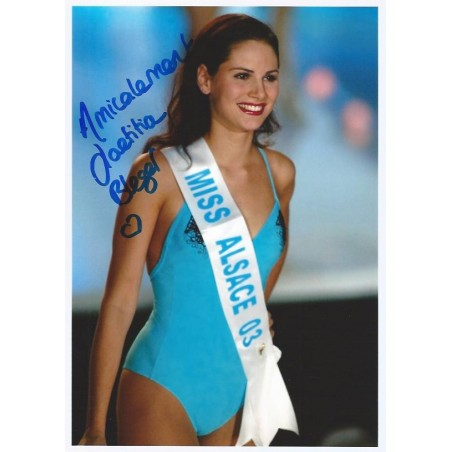 Autographe Laetitia BLEGER - Miss France 2004