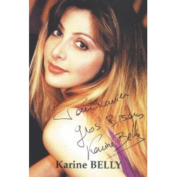 Autographe Karine BELLY