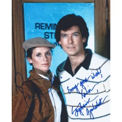 Autographe Pierce BROSNAN & Stephanie ZIMBALIST - REMINGTON STEELE