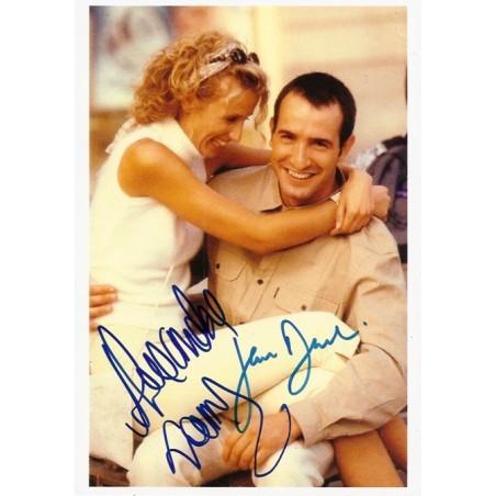 Autographe alexandra lamy jean dujardin photo d dicac e for Jean dujardin autographe
