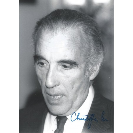 Autographe Christopher LEE