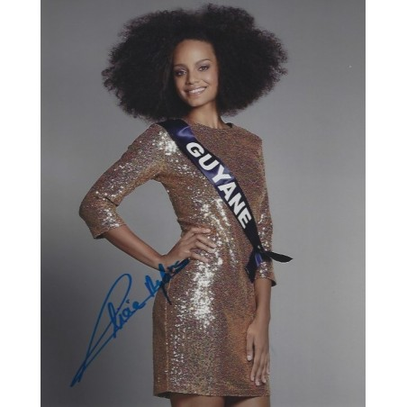 Autographe Alicia AYLIES - Miss France 2017