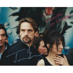 Autographe Jeremy IRONS & Anne PARILLAUD