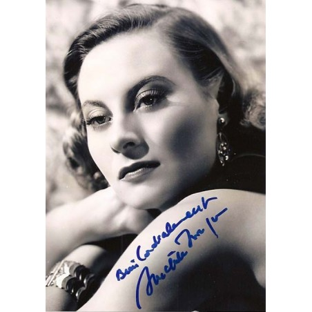 Autographe Michèle MORGAN