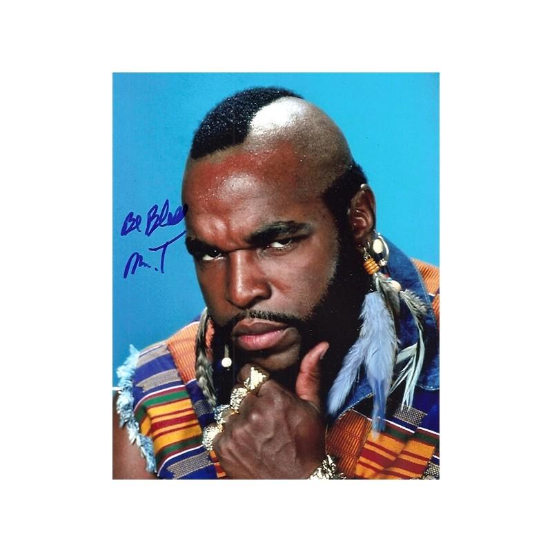 Autographe Mister T Photo D 233 Dicac 233 E