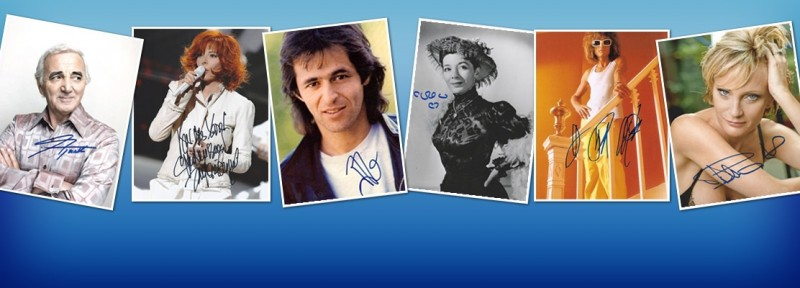French Music Autographs - French Singer Autograph