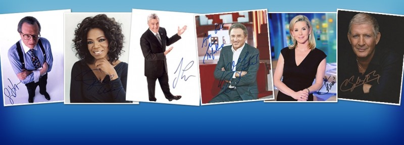 TV Hosts Autographs - TV Show Host Autograph