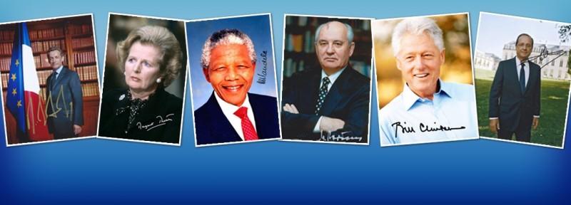 Autographes Politique - Autographes d'hommes et femmes politiques