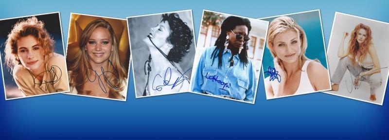 Autographe Actrice - Autographes d'actrices