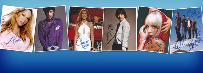 Autographes Musique - Autographe Chanteur - Autographe Chanteuse